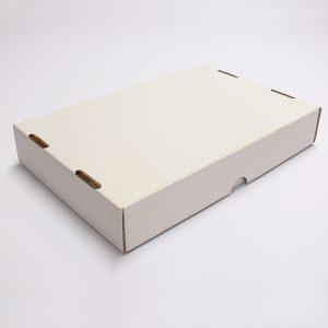 krabice bíůá take away